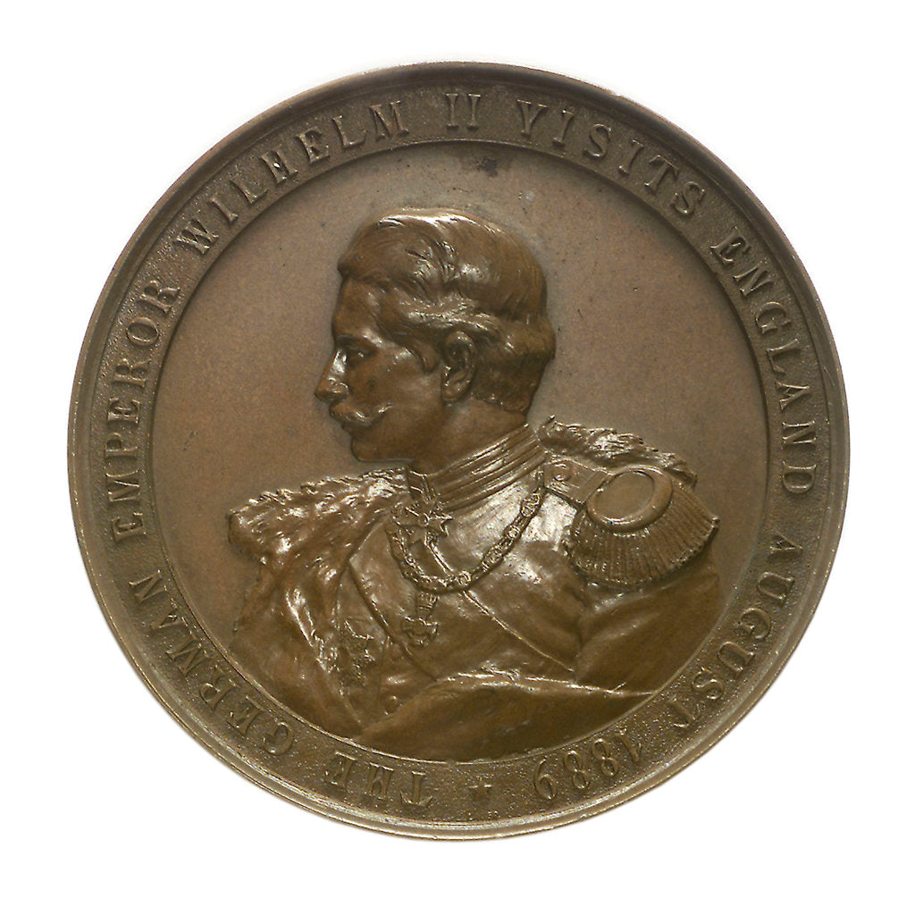 Detail of Medal commemorating the visit of Kaiser Wilhelm II, 1889; obverse by Lauer Bros.