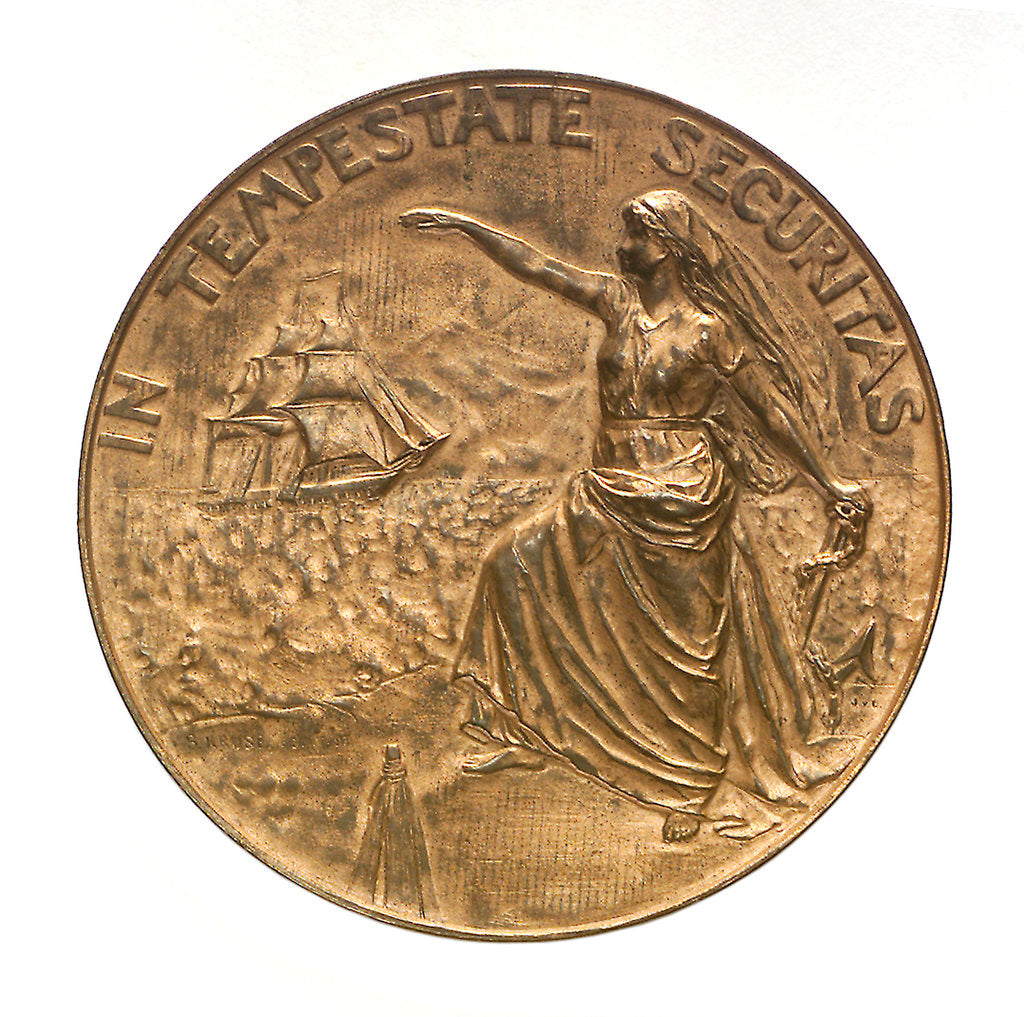 Detail of Medal commemorating the Hamburg society of underwriters; obverse by B. Kruse