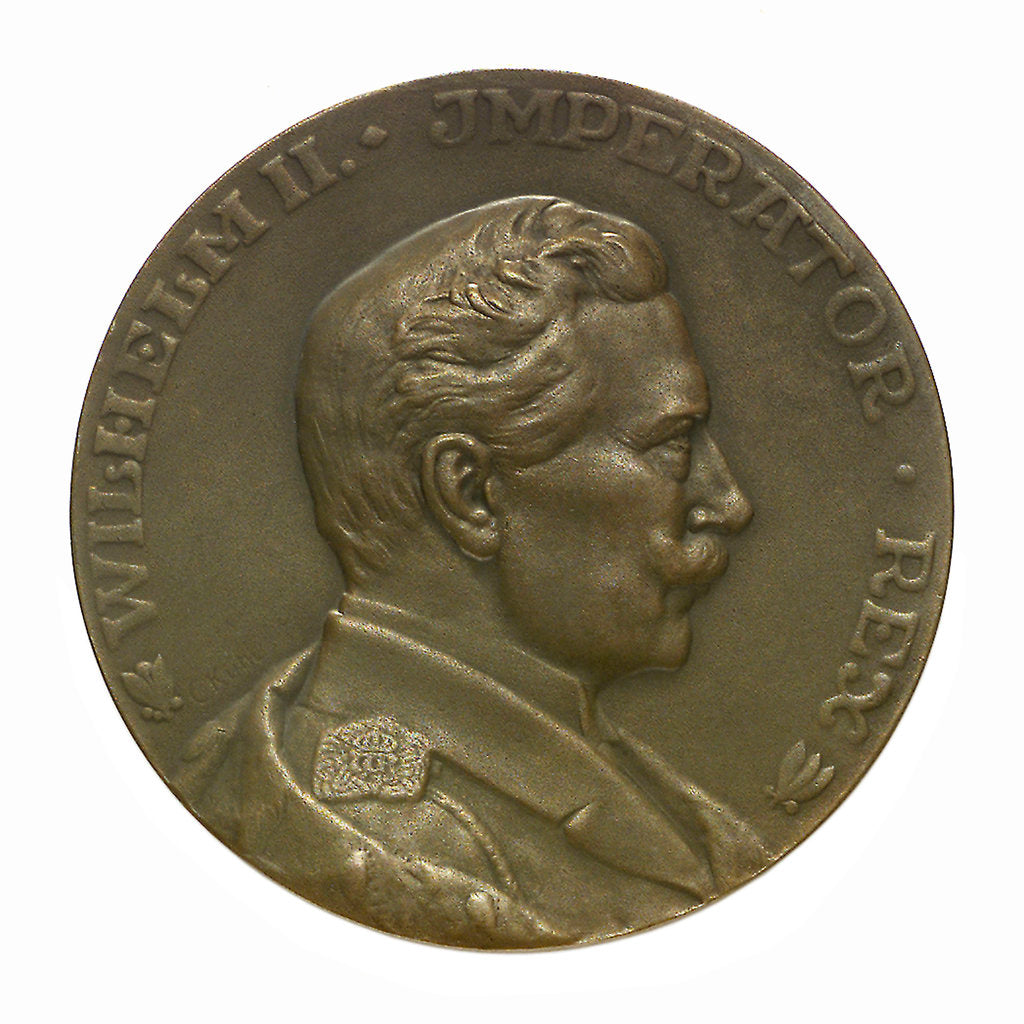Detail of Medal commemorating SS 'Imperator', Hamburg American Line; obverse by C. K