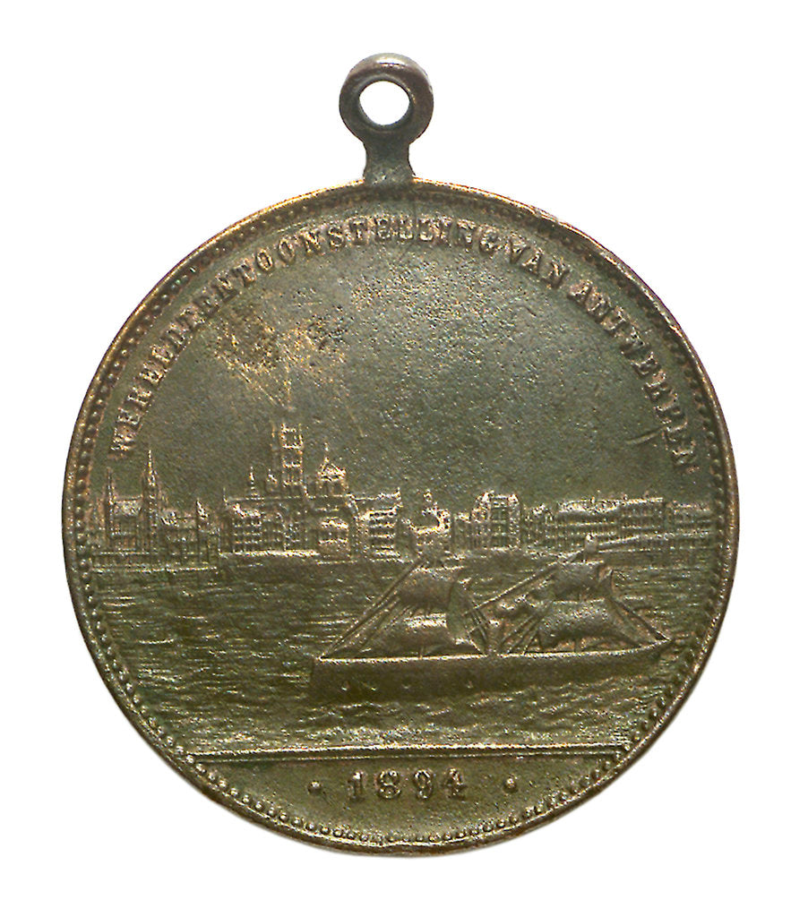 Detail of Medal commemorating the Universal Exhibition at Antwerp, 1894; reverse by unknown