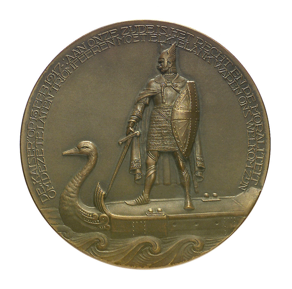 Detail of Medal commemorating the SS 'Amstelstroom' torpedoed, 1917; obverse by unknown
