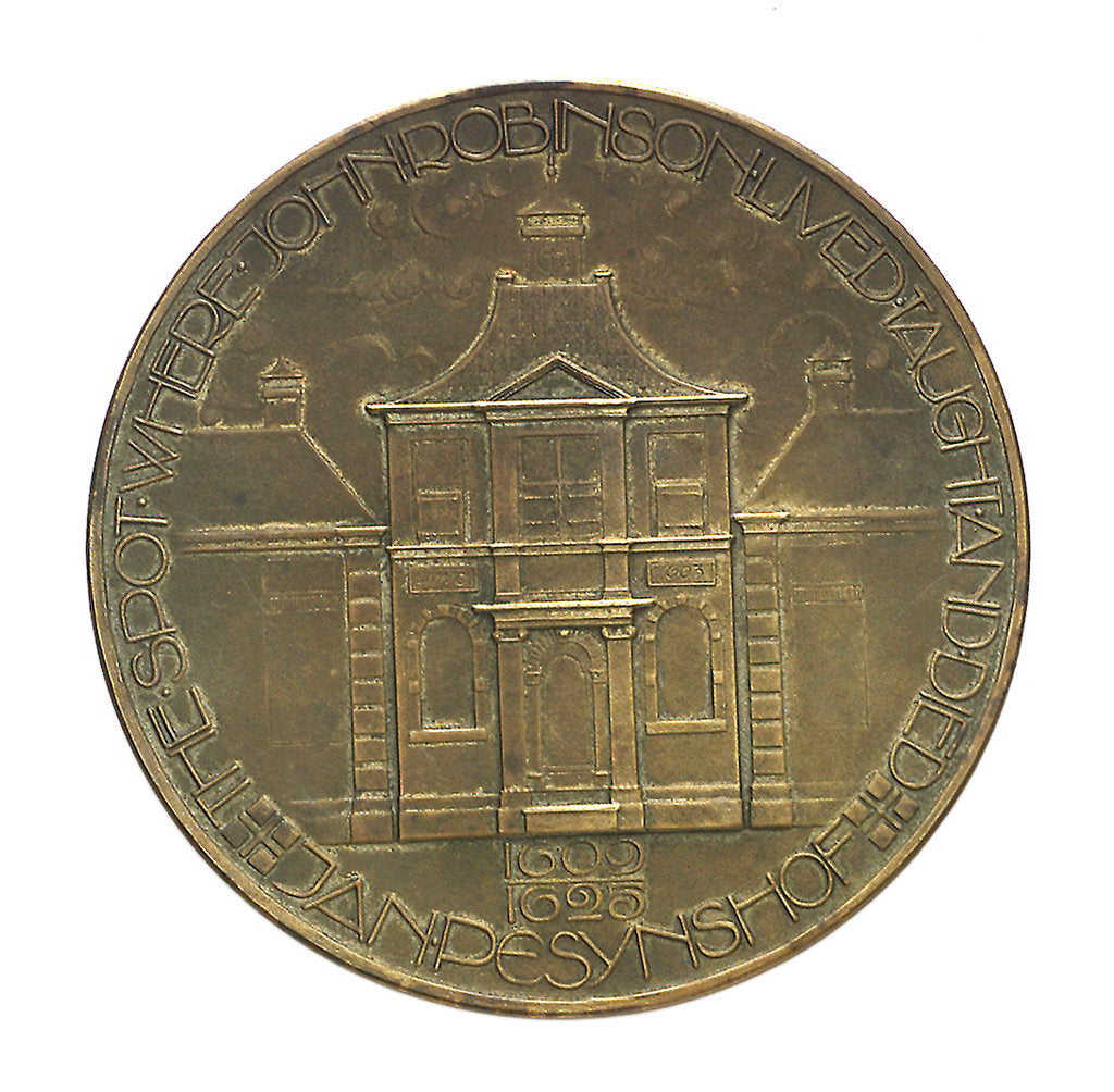 Detail of Medal commemorating the Pilgrim Fathers tercentenary, 1920; reverse by C.J. van der Hoef