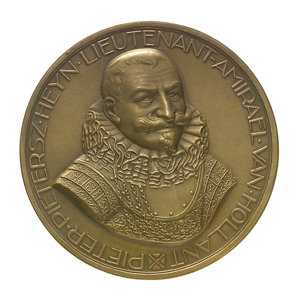 Detail of Medal commemorating the tercentenary of the death of Admiral Piet Heyn 1929; obverse by unknown