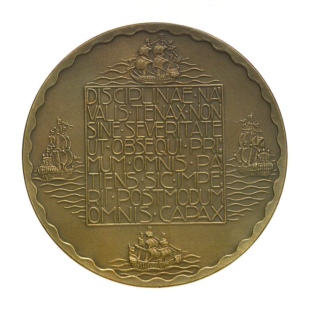 Detail of Medal commemorating the tercentenary of the death of Admiral Piet Heyn 1929; reverse by unknown