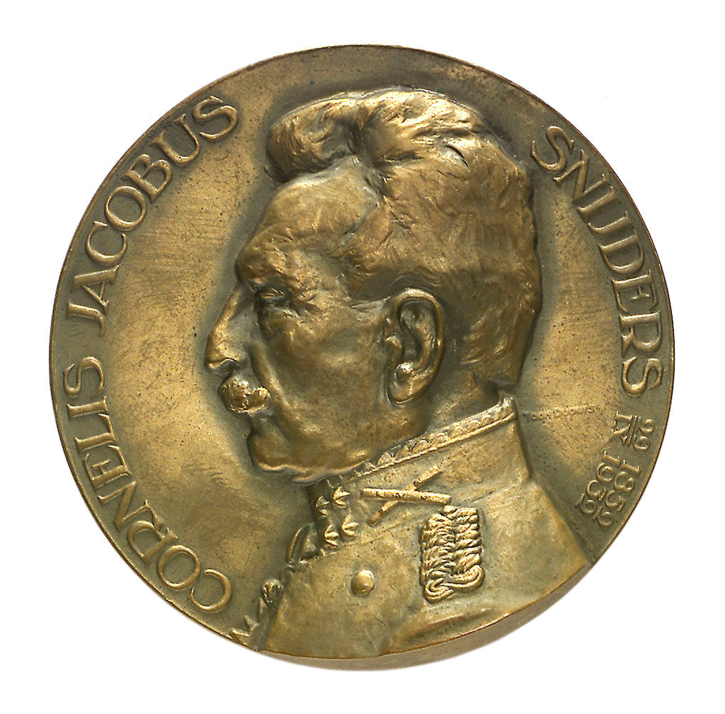 Detail of Medal commemorating Admiral and General C. J. Snijders (1852-1932); obverse by T. Dupuis