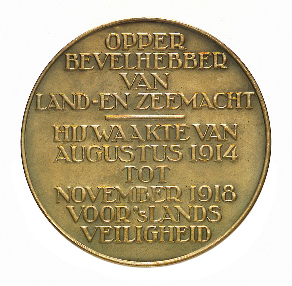 Detail of Medal commemorating Admiral and General C. J. Snijders (1852-1932); reverse by T. Dupuis