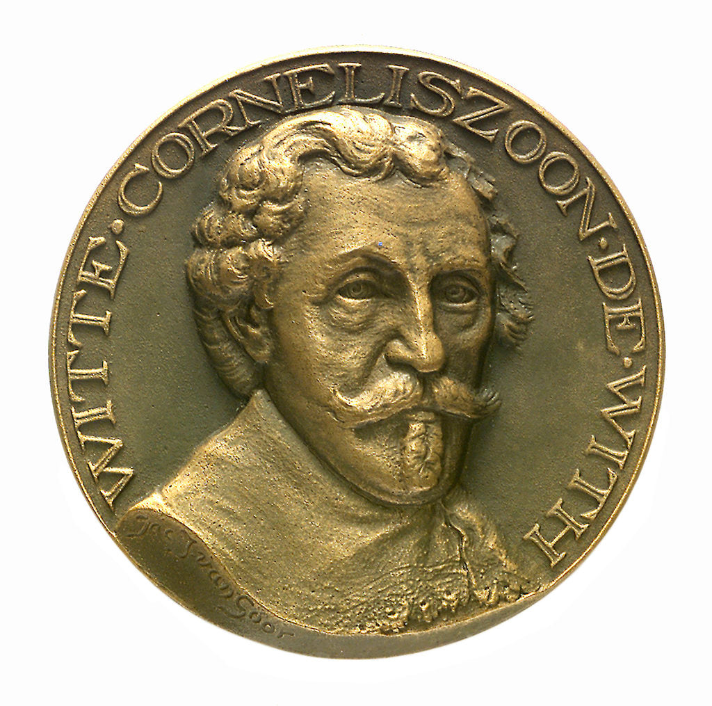 Detail of Medal commemorating Admiral Witte Corneliszoon de With (1599-1651); obverse by J.J. van der Goor
