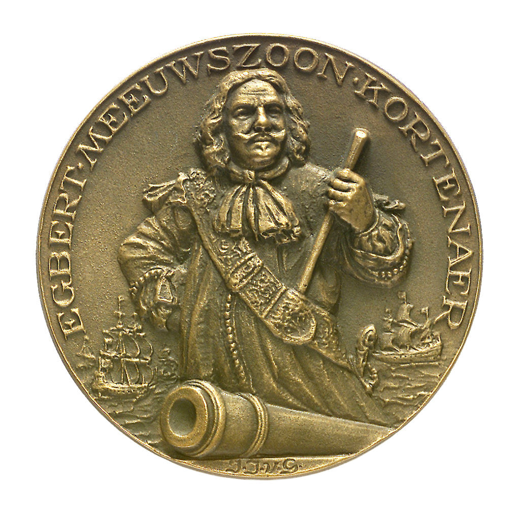 Detail of Medal commemorating Admiral Egbert Meeuwsz Kortenaar (died 1665); obverse by J.J. van der Goor