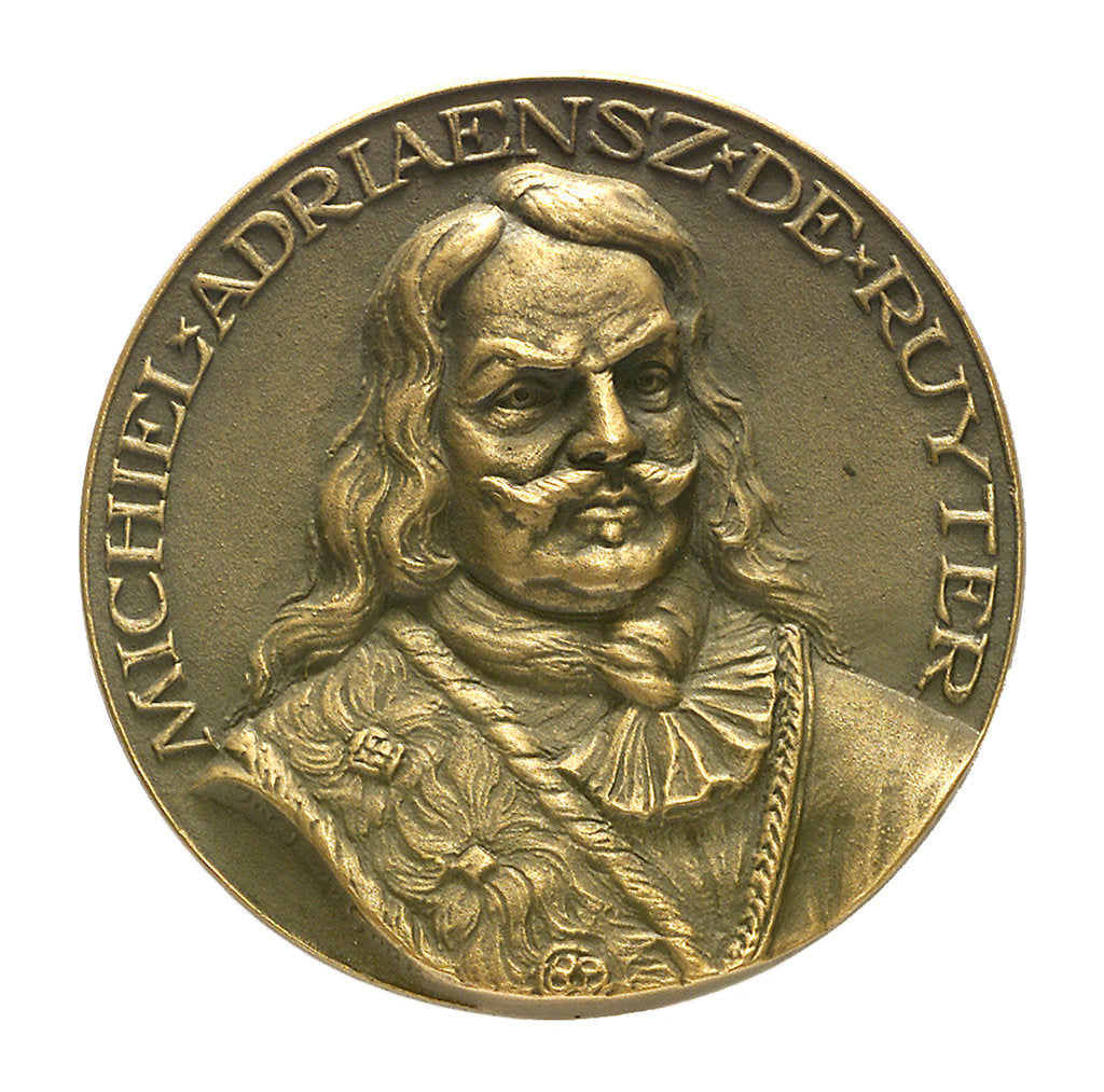 Detail of Medal commemorating Admiral Michel Adriaenszoon de Ruyter (1607-1676); obverse by J.J. van der Goor