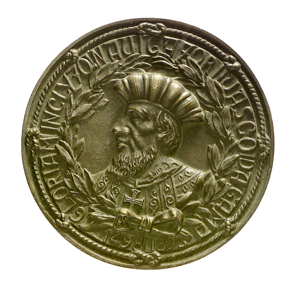 Detail of Medal commemorating the Vasco de Gama tercentenary, 1898; obverse by unknown