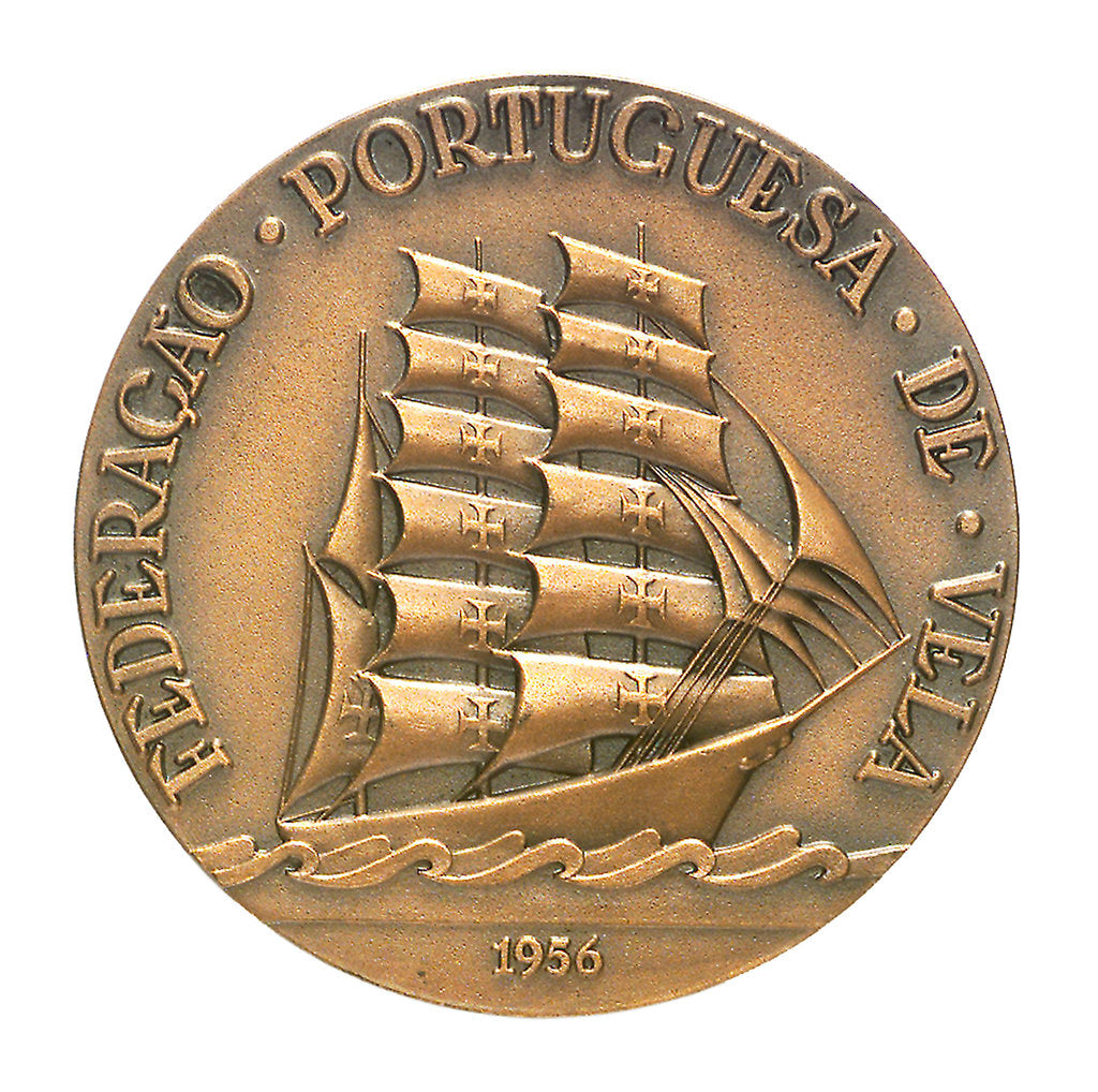 Detail of Medal commemorating the Torbay-Lisbon Race 1956; obverse by unknown