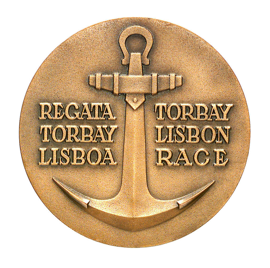 Detail of Medal commemorating the Torbay-Lisbon Race 1956; reverse by unknown