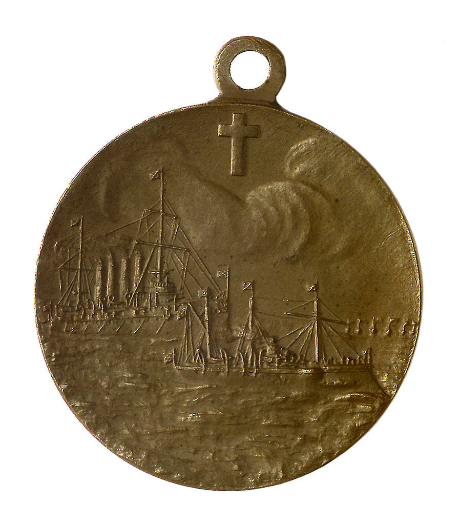 Detail of Medal commemorating the action at Chemulpo, 1904; reverse by unknown