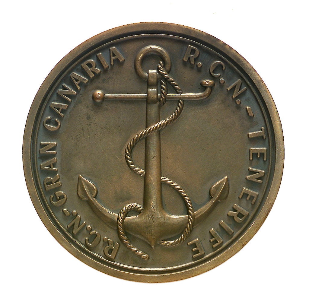 Detail of Medal commemorating the Brest-Canaries race, 1958; reverse by unknown