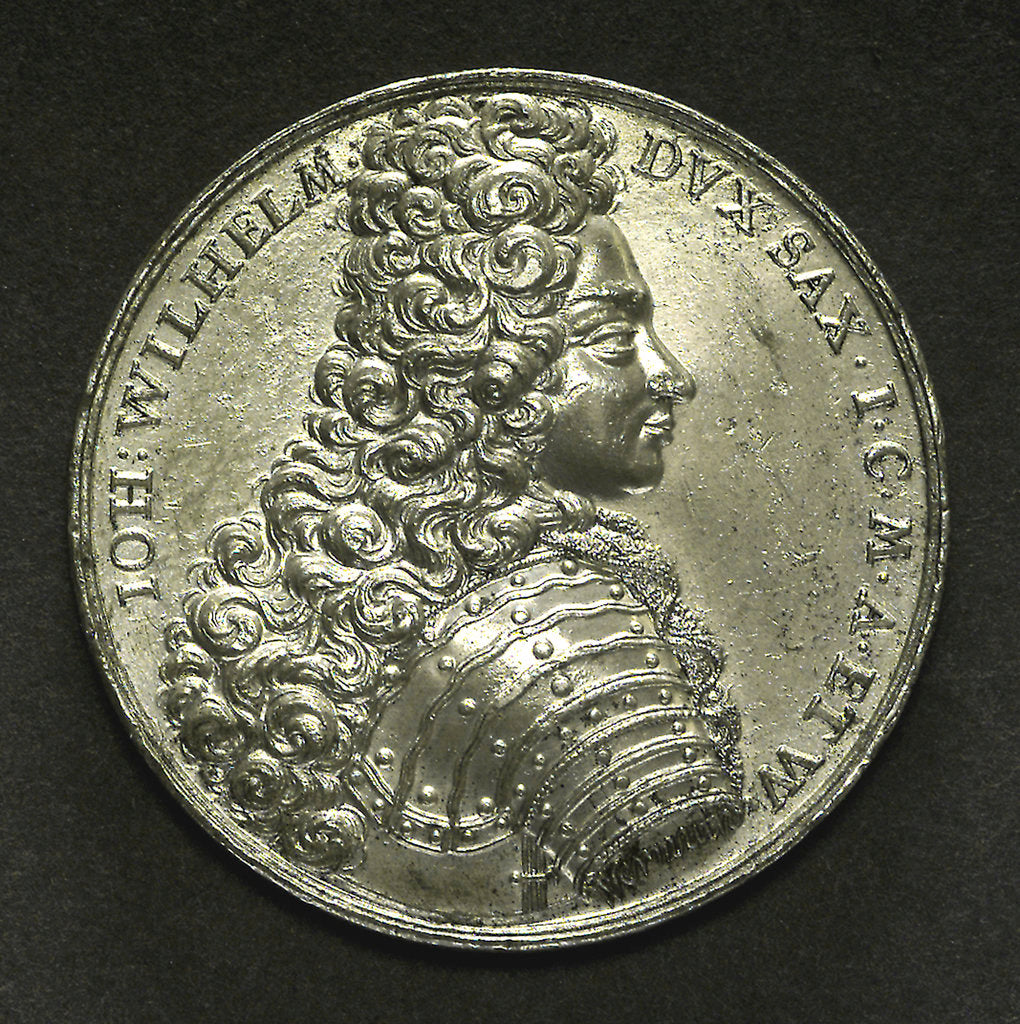Detail of Medal commemorating the Duke of Saxony wrecked near Stockholm, 1702; obverse by C. Wermuth