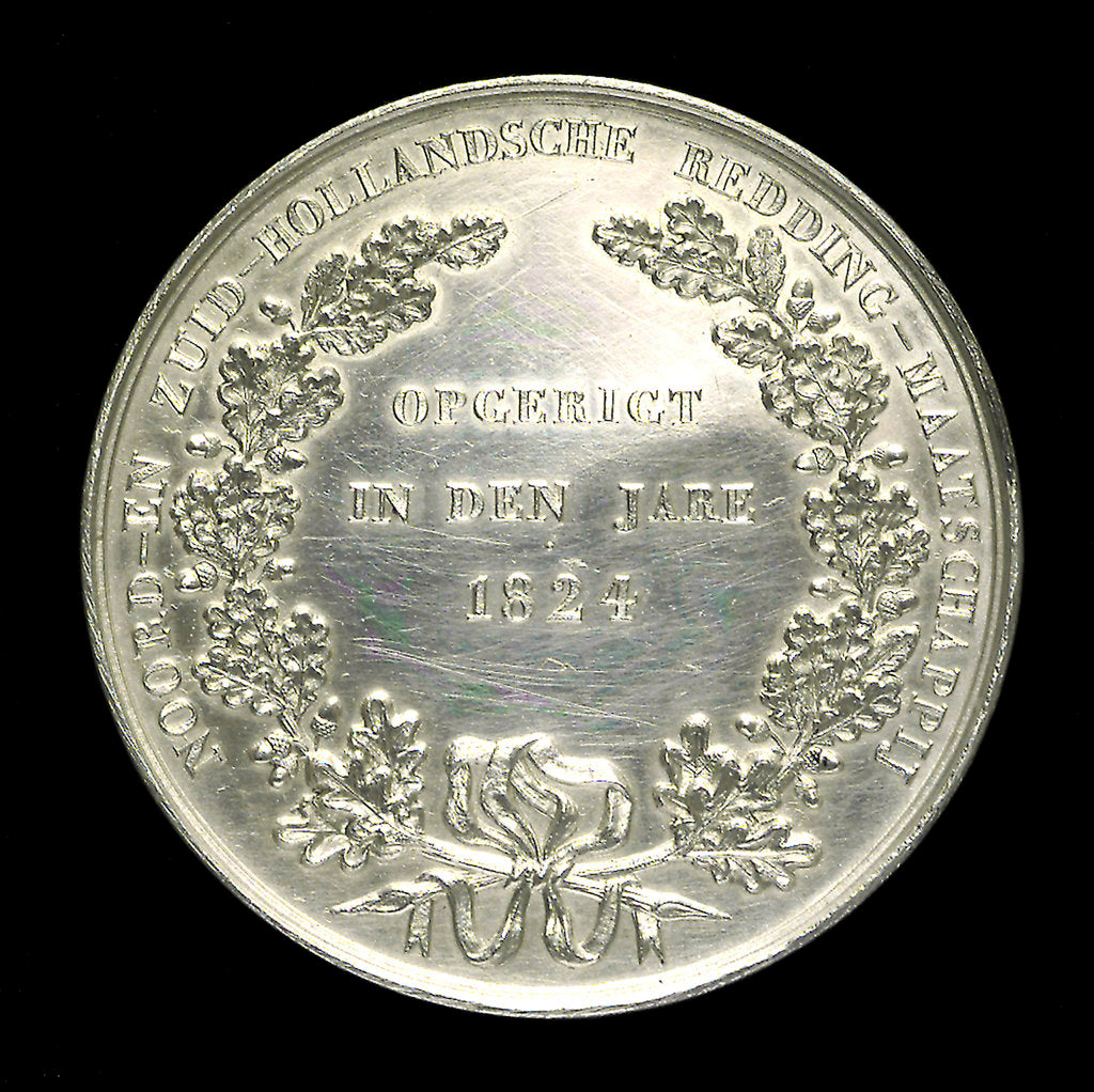 Detail of Medal commemorating the North and South Holland Life-Saving Society; 25th anniversary; obverse by unknown