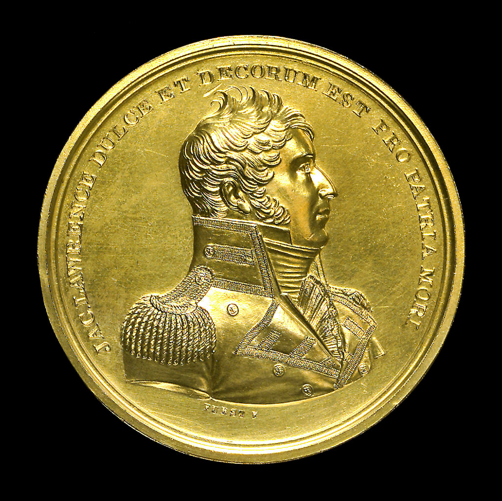 Detail of Medal commemorating the capture of HMS 'Peacock', 1813; obverse by Moritz Furst