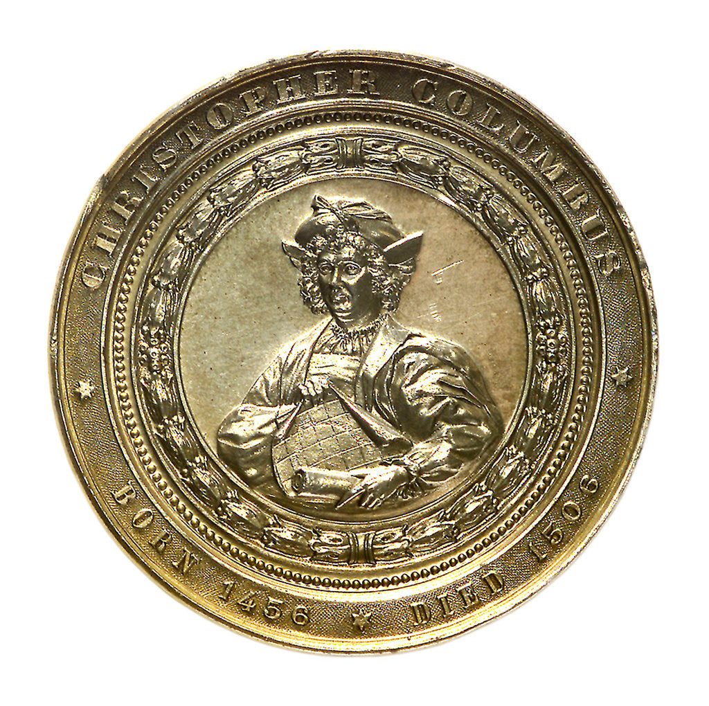 Detail of Medal commemorating the Columbian Exposition, 1892; obverse by M. Mayer