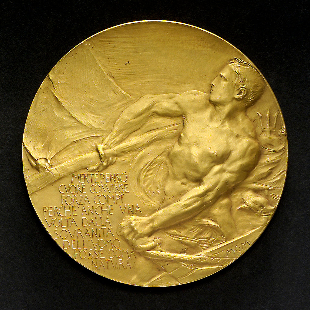 Detail of Medal commemorating Duca d'Abruzzi and his North Pole expedition, 1899; reverse by E. Boninsegna
