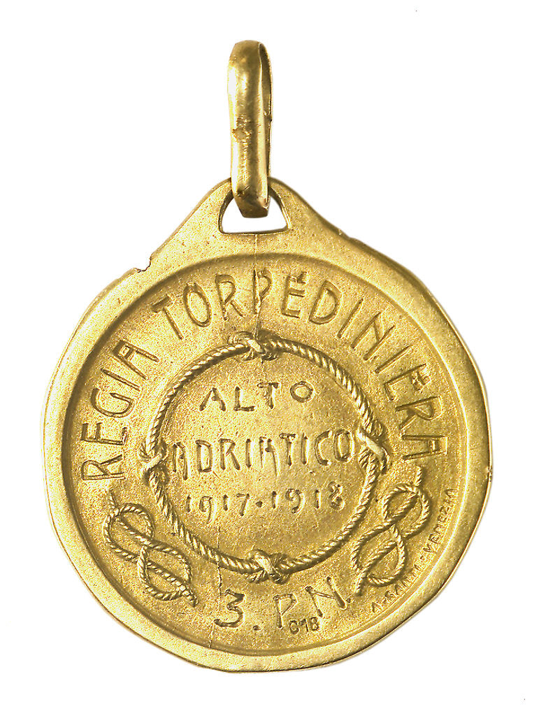 Medal commemorating the Royal torpedo boat service; reverse by A. Santi