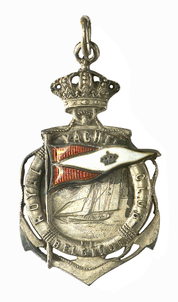 Detail of Badge commemorating the Royal Yacht Club of Belgium; obverse by P. Fisch