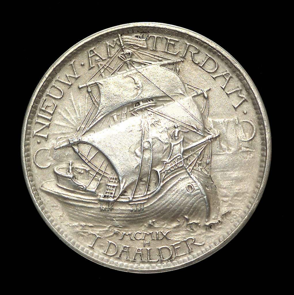 Detail of Medal commemorating the Henry Hudson tercentenary, 1909; reverse by J.E. Roin