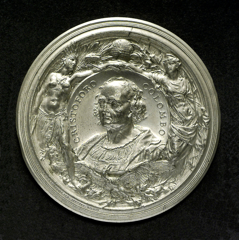 Medal commemorating the fourth centenary of the discovery of America, 1892; obverse by L. Pogliaghi