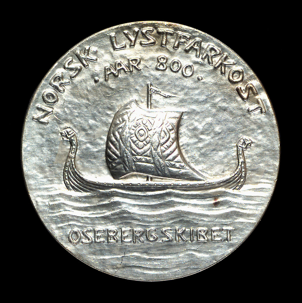 Detail of Medal commemorating the Oseberg ship; reverse by J. Throndson
