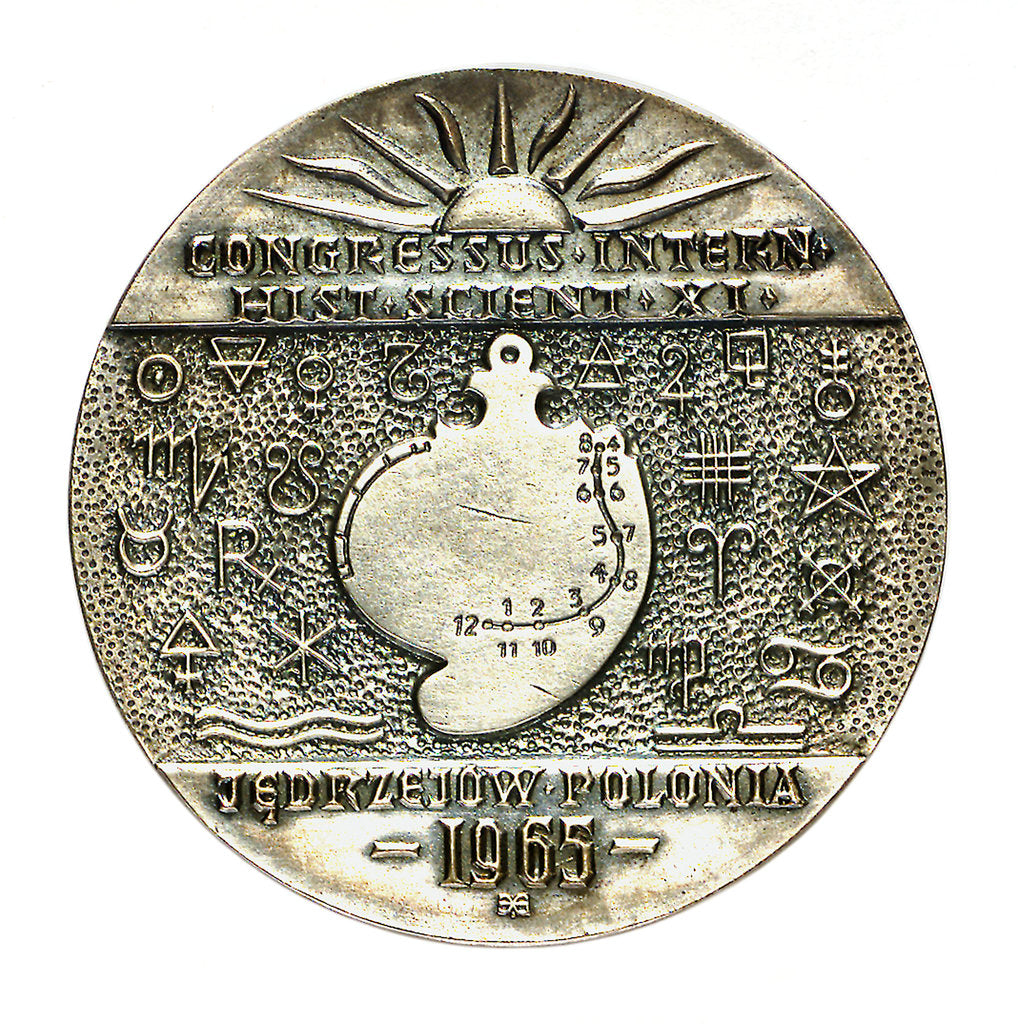 Detail of Medal commemorating the XIth International Congress of the History of Science, 1965; obverse by unknown