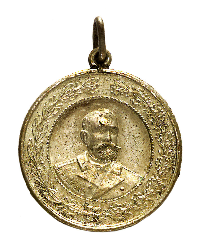 Detail of Medal commemorating Captain V. Rudnev and the action at Chemulpo, 1904; obverse by unknown