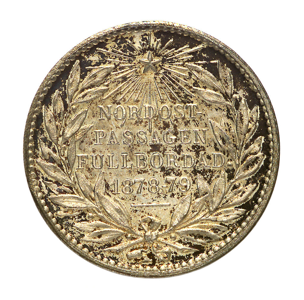 Detail of Medal commemorating the Navigation of the North East Passage 1878-1879; reverse by A. Lindberg