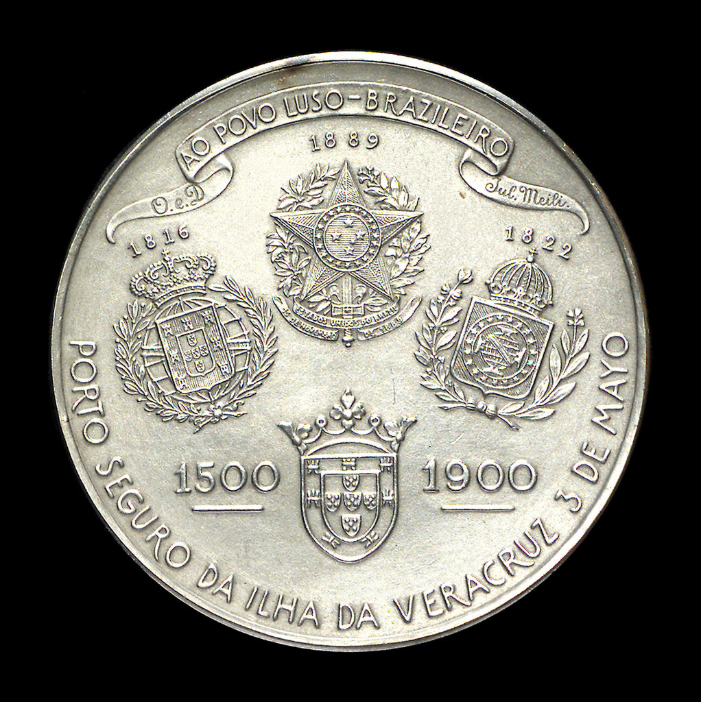 Detail of Medal commemorating the 400th anniversary of the discovery of Brasil, 1900; reverse by H. Frei