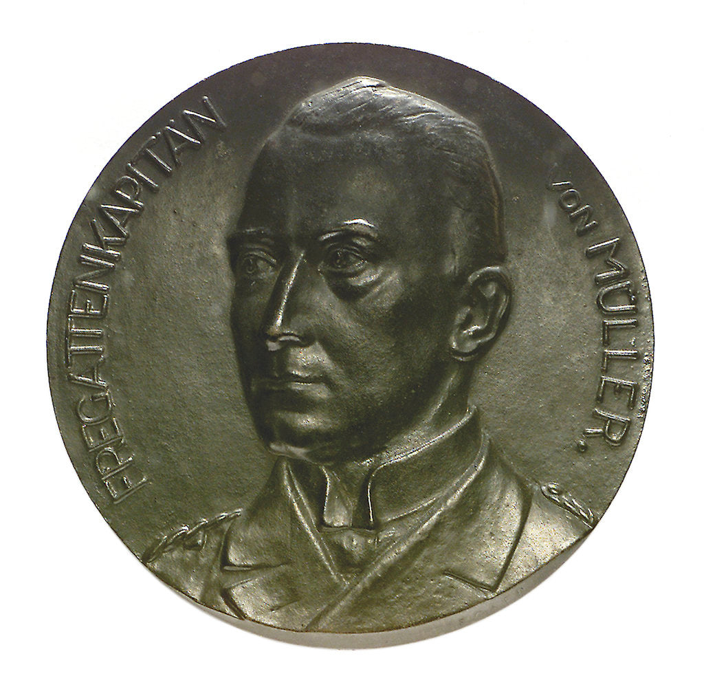 Detail of Medal commemorating the destruction of the 'Emden', 1914; obverse by unknown