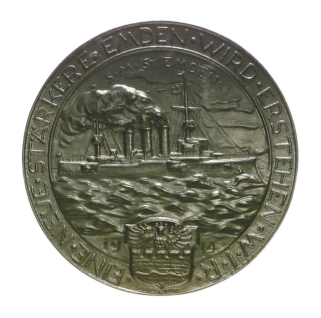 Detail of Medal commemorating the destruction of the 'Emden', 1914; reverse by unknown