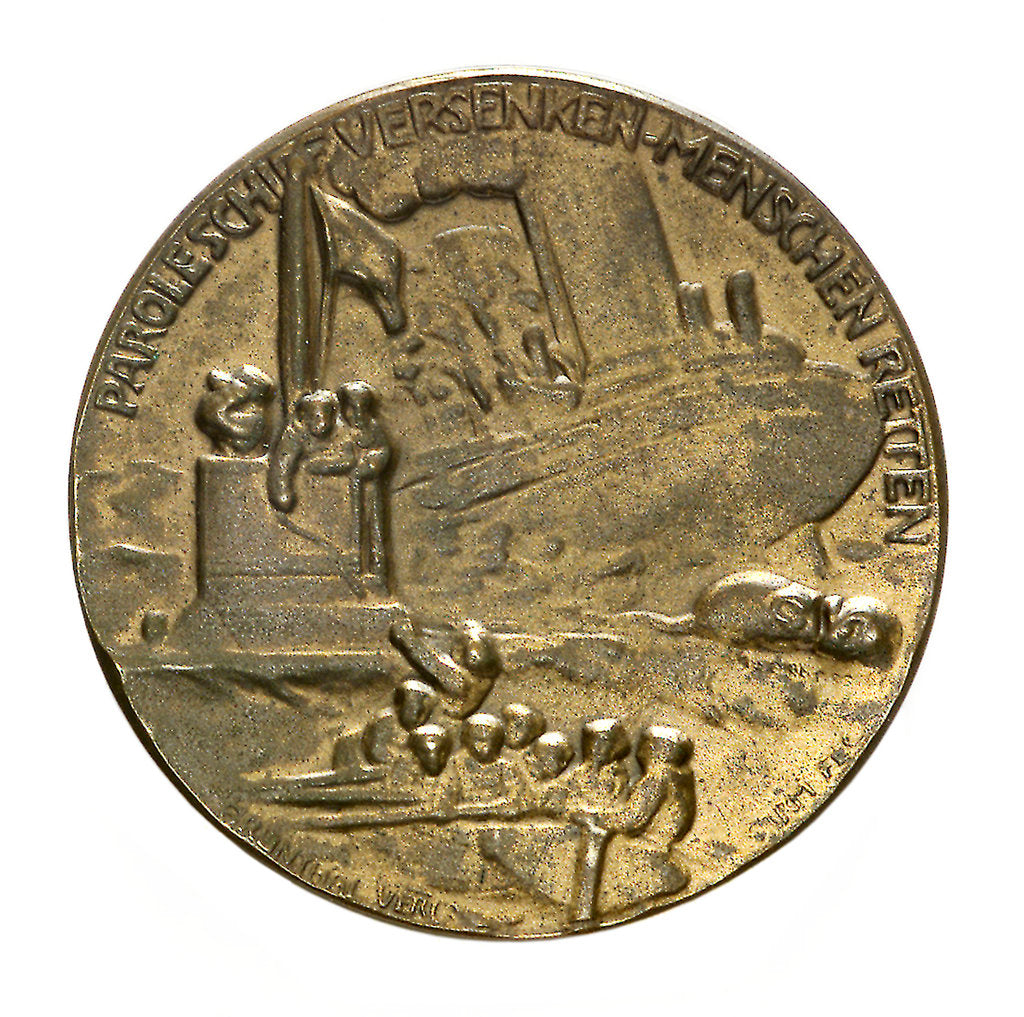 Detail of Medal commemorating Grossadmiral Alfred von Tirpitz (1849-1930); reverse by P. Sturm
