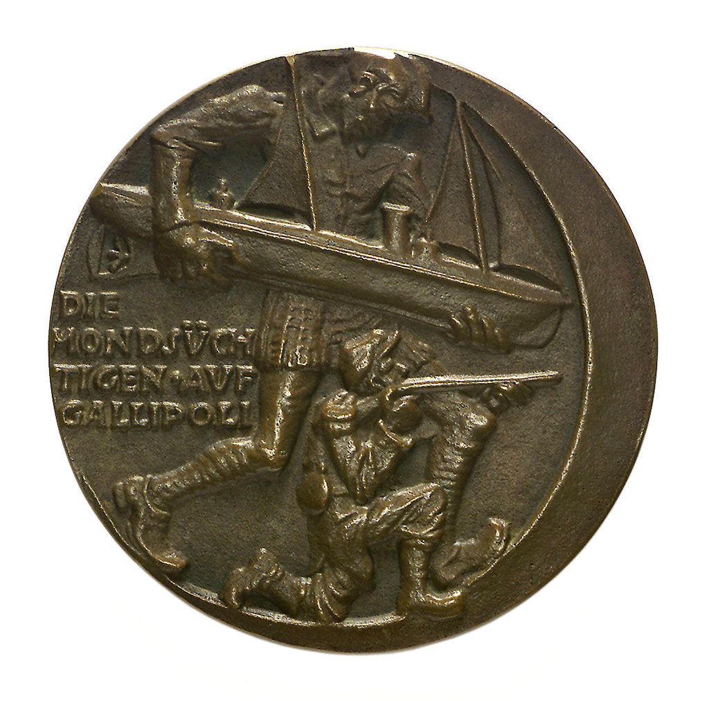 Detail of Medal commemorating the Gallipoli campaign; obverse by Karl Goetz