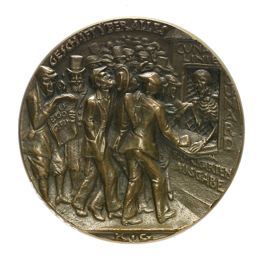 Detail of Medal commemorating the sinking of the SS 'Lusitania', 1915; obverse by Karl Goetz