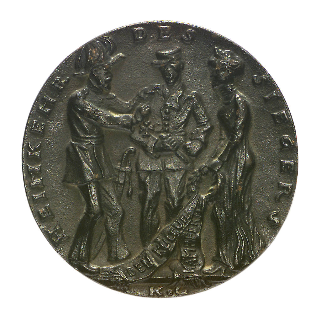 Detail of Medal commemorating the sinking of 'U27' by Q-ship 'Baralong', 1915; obverse by Karl Goetz