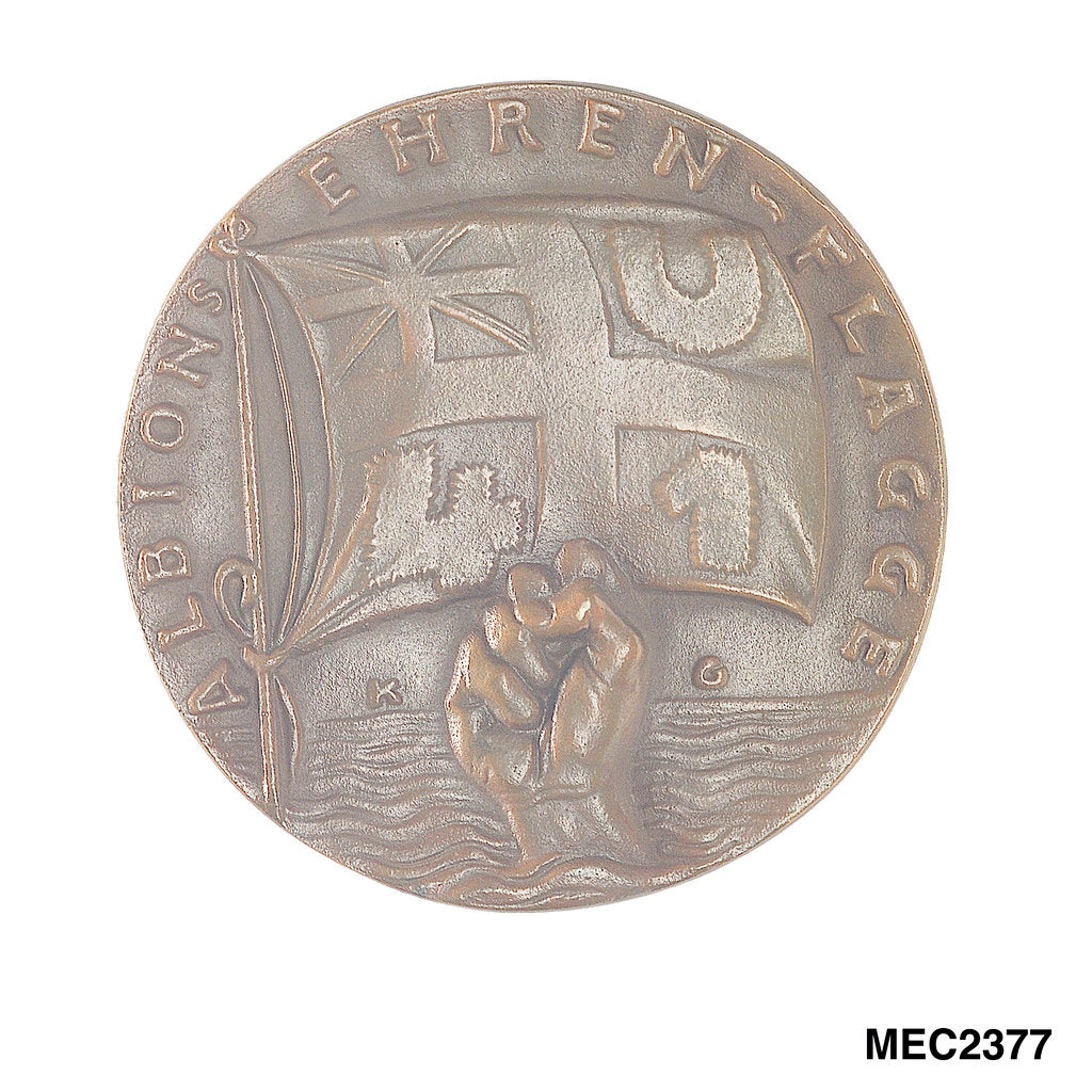 Detail of Medal commemorating the sinking of 'U41' by Q-ship 'Baralong', 1915 by Karl Goetz