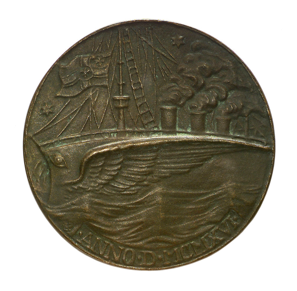 Detail of Medal commemorating the Captain of SMS 'Möwe', Graf Dohna Schlodien by unknown