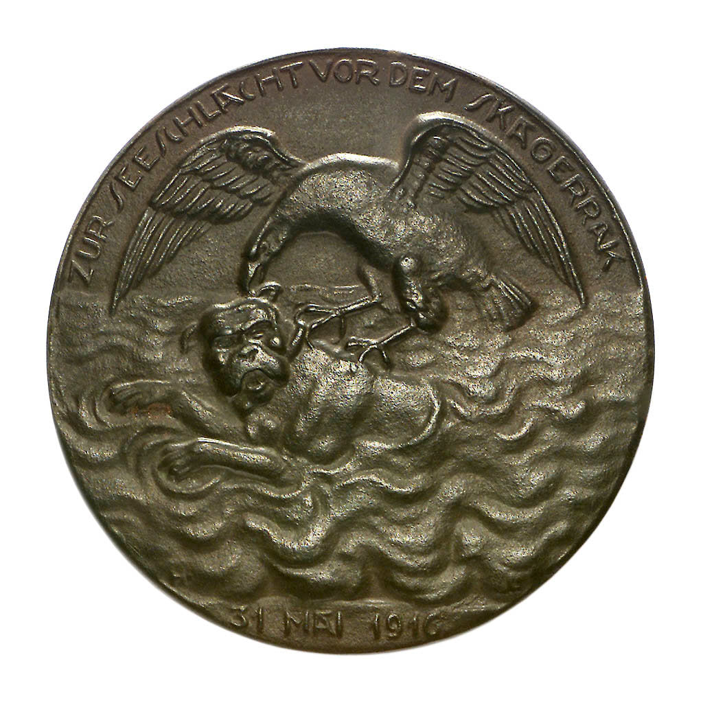 Detail of Medal commemorating the Battle of Jutland, 1916; obverse by H. Lindl