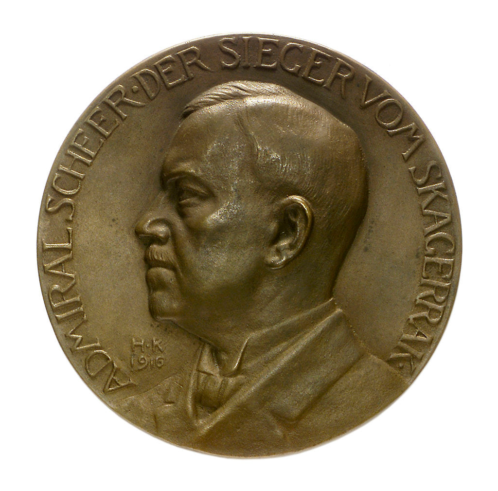 Detail of Medal commemorating Admiral Rheinhold von Scheer (1863-1928) and the Battle of Jutland, 1916; obverse by Hugo Kaufmann