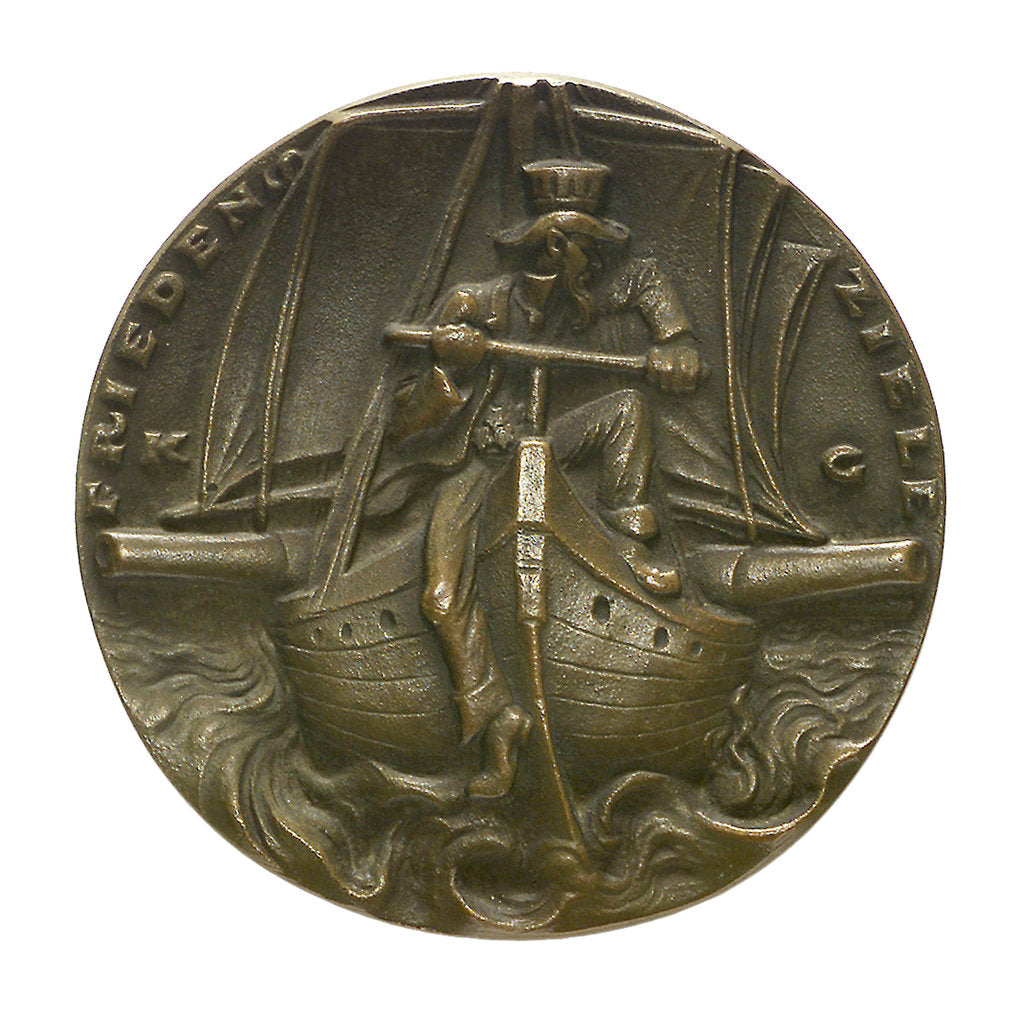 Detail of Medal commemorating America's peace objectives; obverse by Karl Goetz