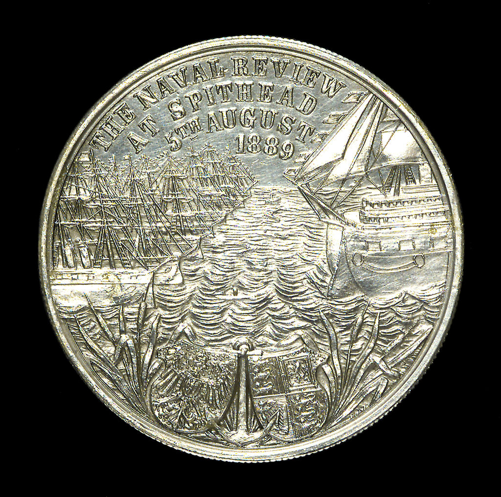 Medal commemorating the naval review at Spithead, 1889; reverse by unknown