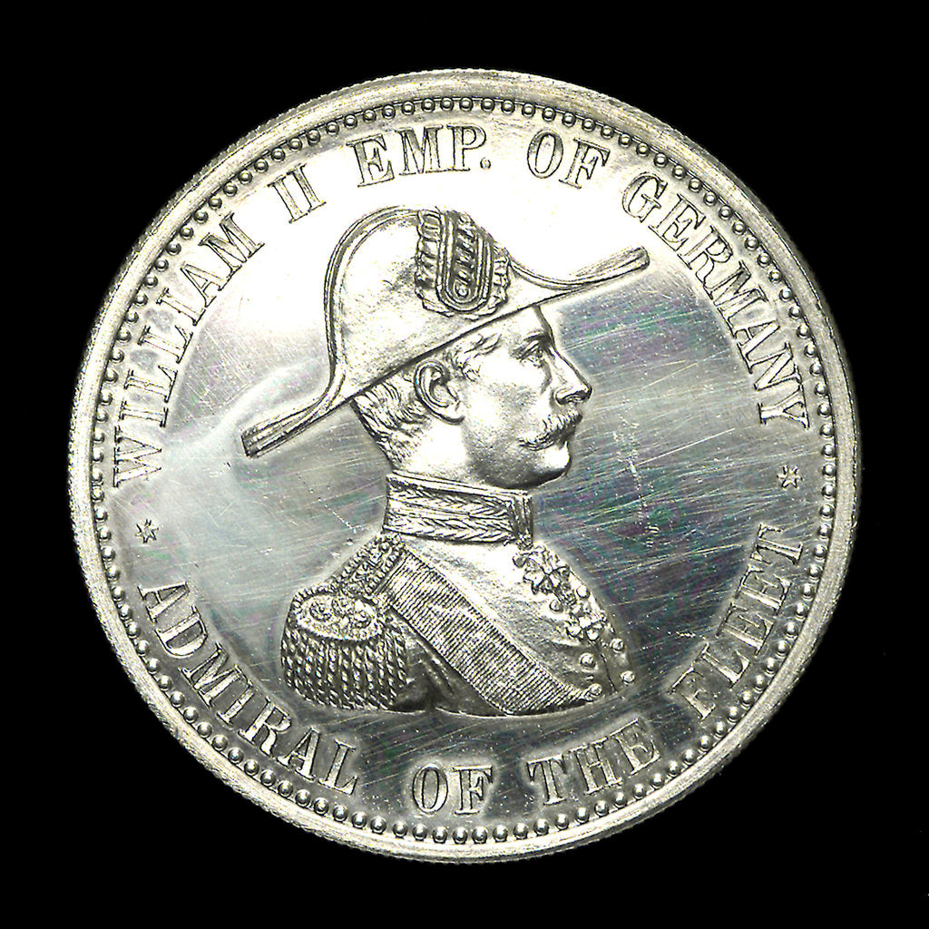 Detail of Medal commemorating the naval review at Spithead, 1889; obverse by unknown