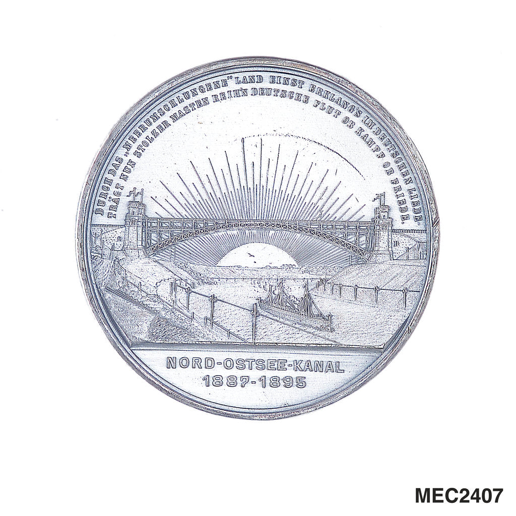 Medal commemorating the opening of the Kiel Canal, 1895 by W. Mayer
