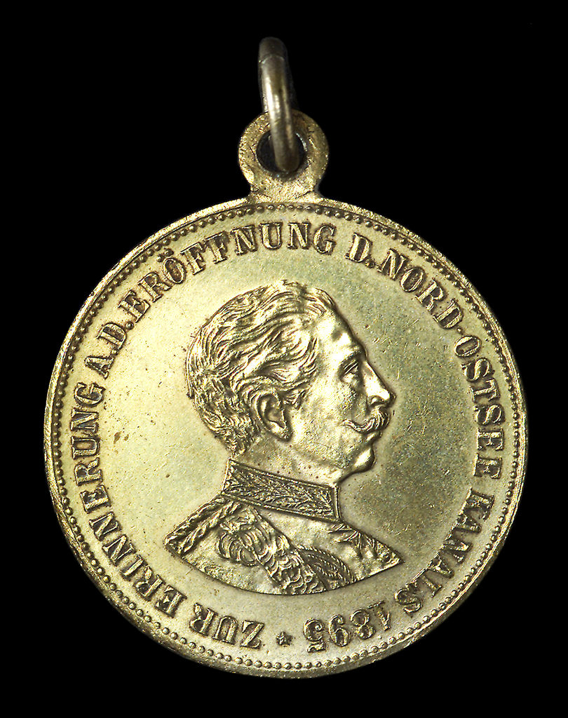 Detail of Medal commemorating the opening of the Kiel Canal, 1895; obverse by unknown