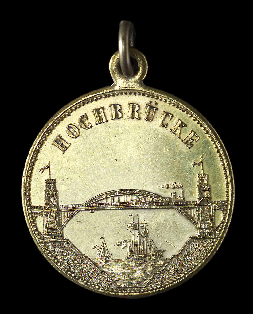 Detail of Medal commemorating the opening of the Kiel Canal, 1895; reverse by unknown