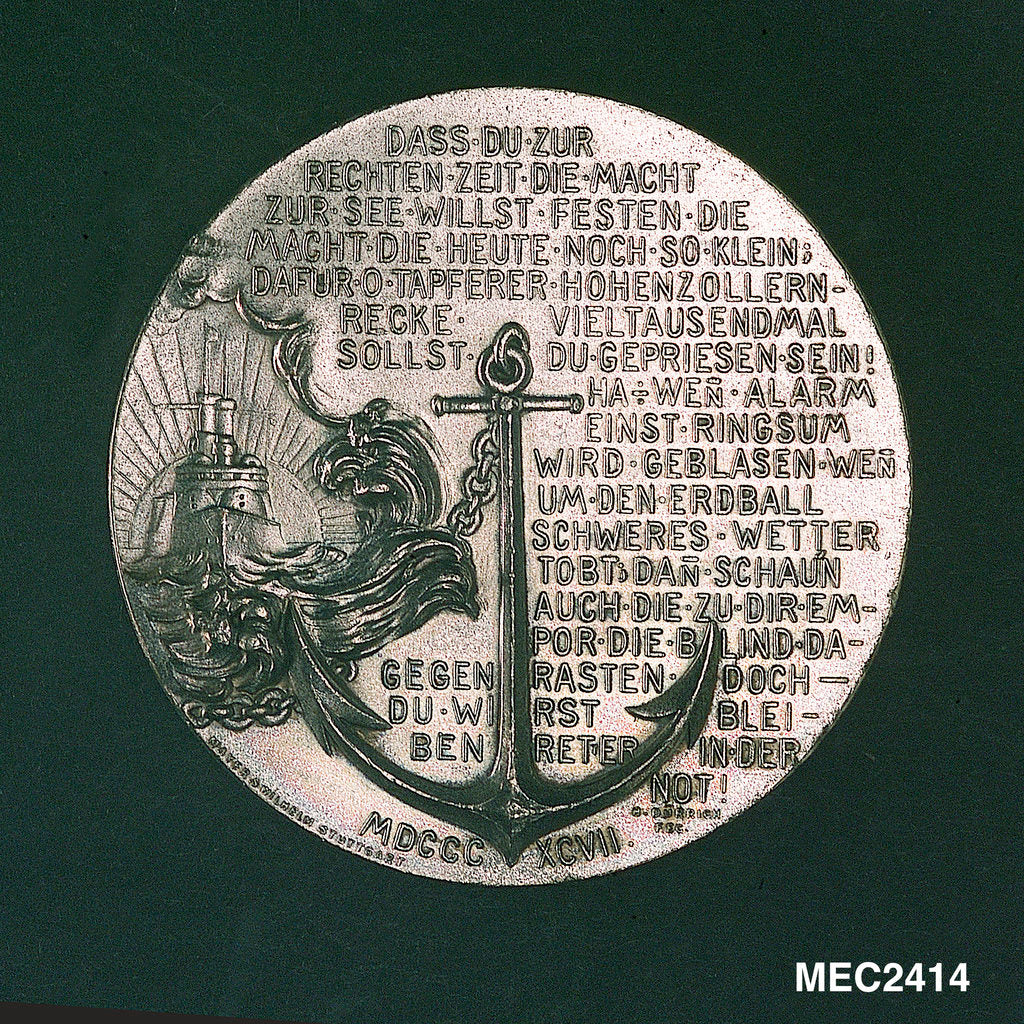 Detail of Medal commemorating the increase of the German fleet by H. D