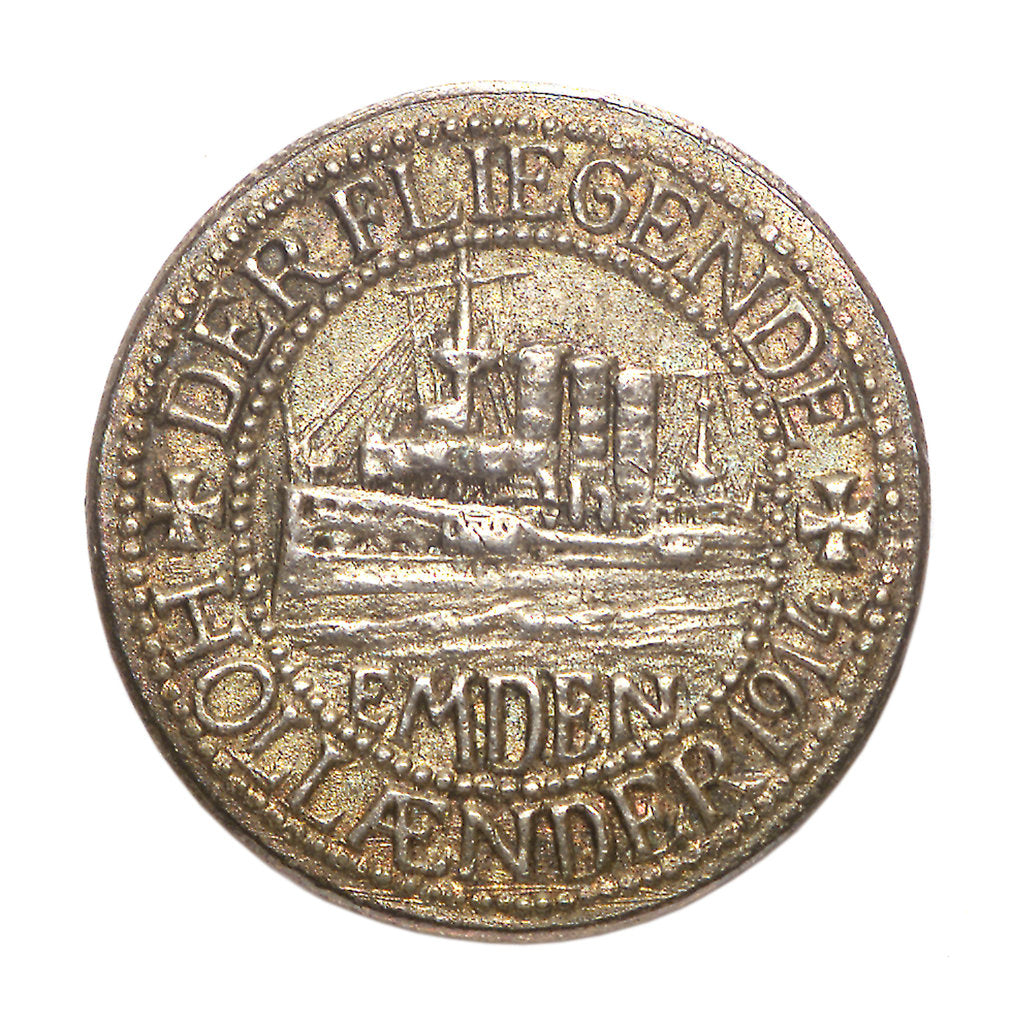 Detail of Medal commemorating Captain Karl von Müller (1873-1923) and the cruiser 'Emden' by unknown